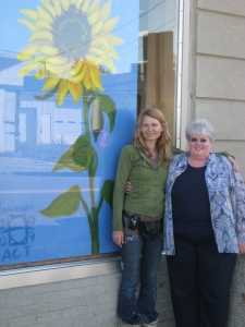 In front of Bren's new Sunflower