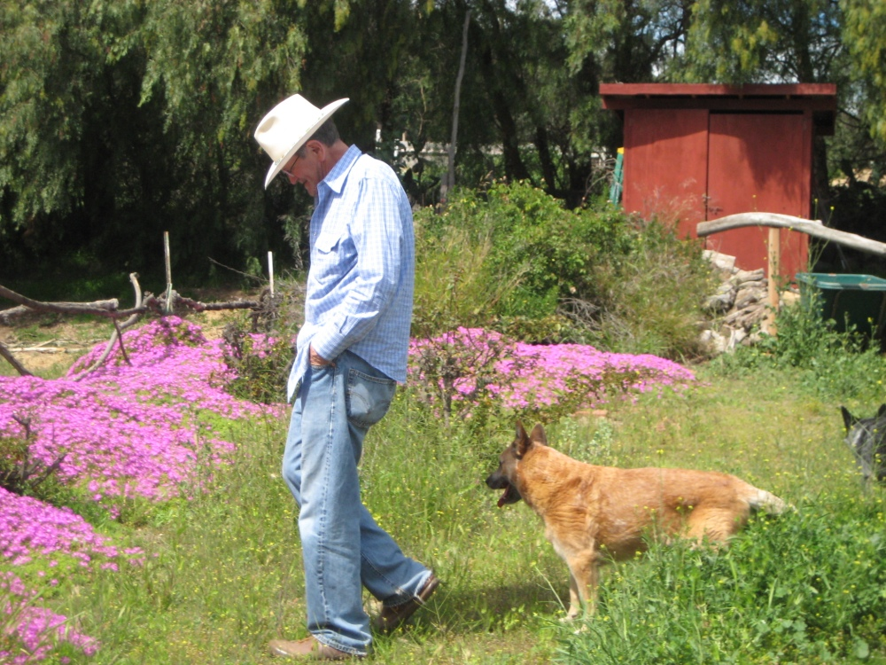 James Hayward on his ranch in Moorpark, CA