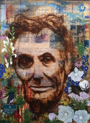Lincoln Crossed My Mind, 2012 by Andrea LaHue aka Random Act