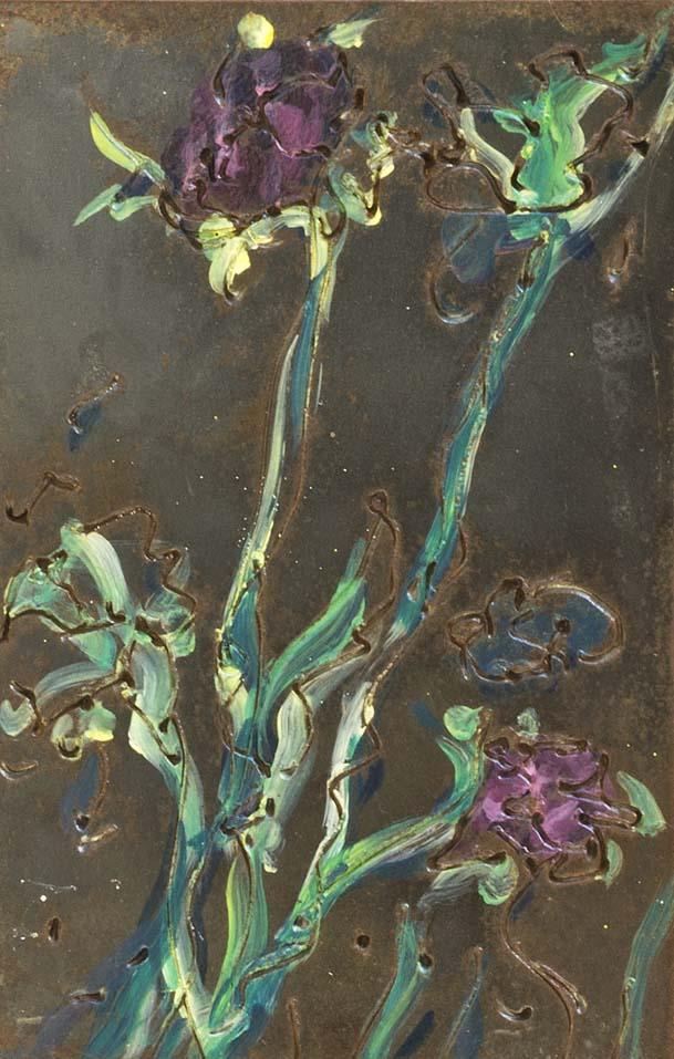 metal sketch flower alahue web