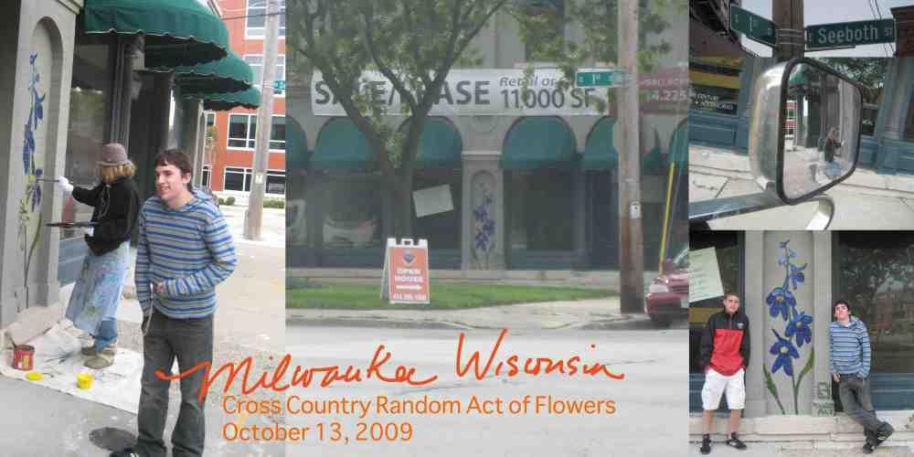 Milwaukee Wisconsin Random Act of Flower