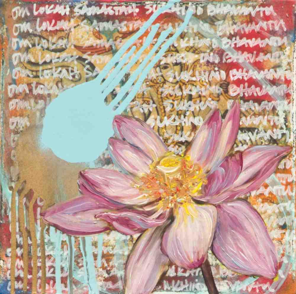 Open Pink Amma Lotus by Andrea LaHue aka Random Act