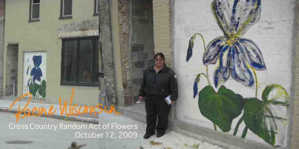 Racine Wisconsin Random Act of Flower, Oct 09