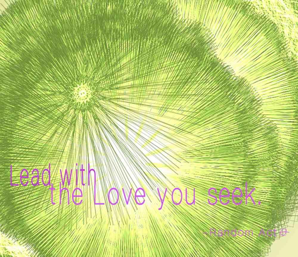 Lead with the Love you Seek, 2014 by Random Act aka Andrea LaHue