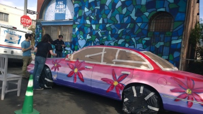 painting a car with Jennifer Korsen and Jason Ostro at The Gabba Gallery